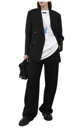 Женская хлопковая футболка BALENCIAGA белого цвета, арт. 657059/TKV94 | Фото 2