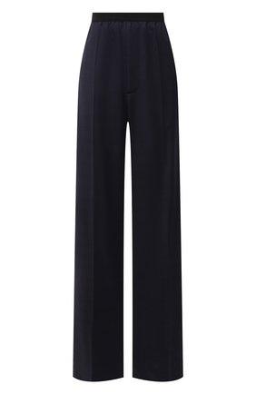 Женские шерстяные брюки BALENCIAGA синего цвета, арт. 583824/TKT12 | Фото 1