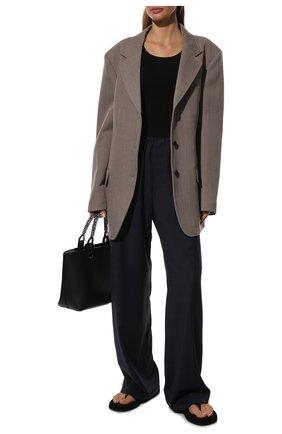 Женские шерстяные брюки BALENCIAGA синего цвета, арт. 583824/TKT12 | Фото 2