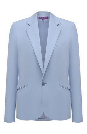 Женский шерстяной жакет RALPH LAUREN синего цвета, арт. 290842585 | Фото 1