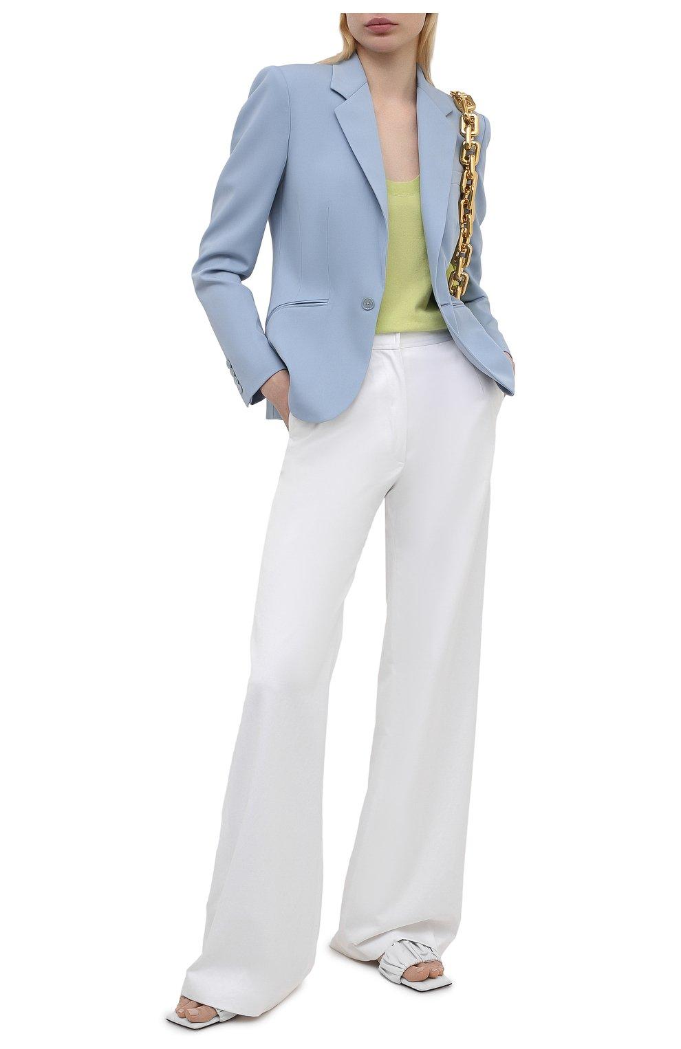 Женский шерстяной жакет RALPH LAUREN синего цвета, арт. 290842585 | Фото 2