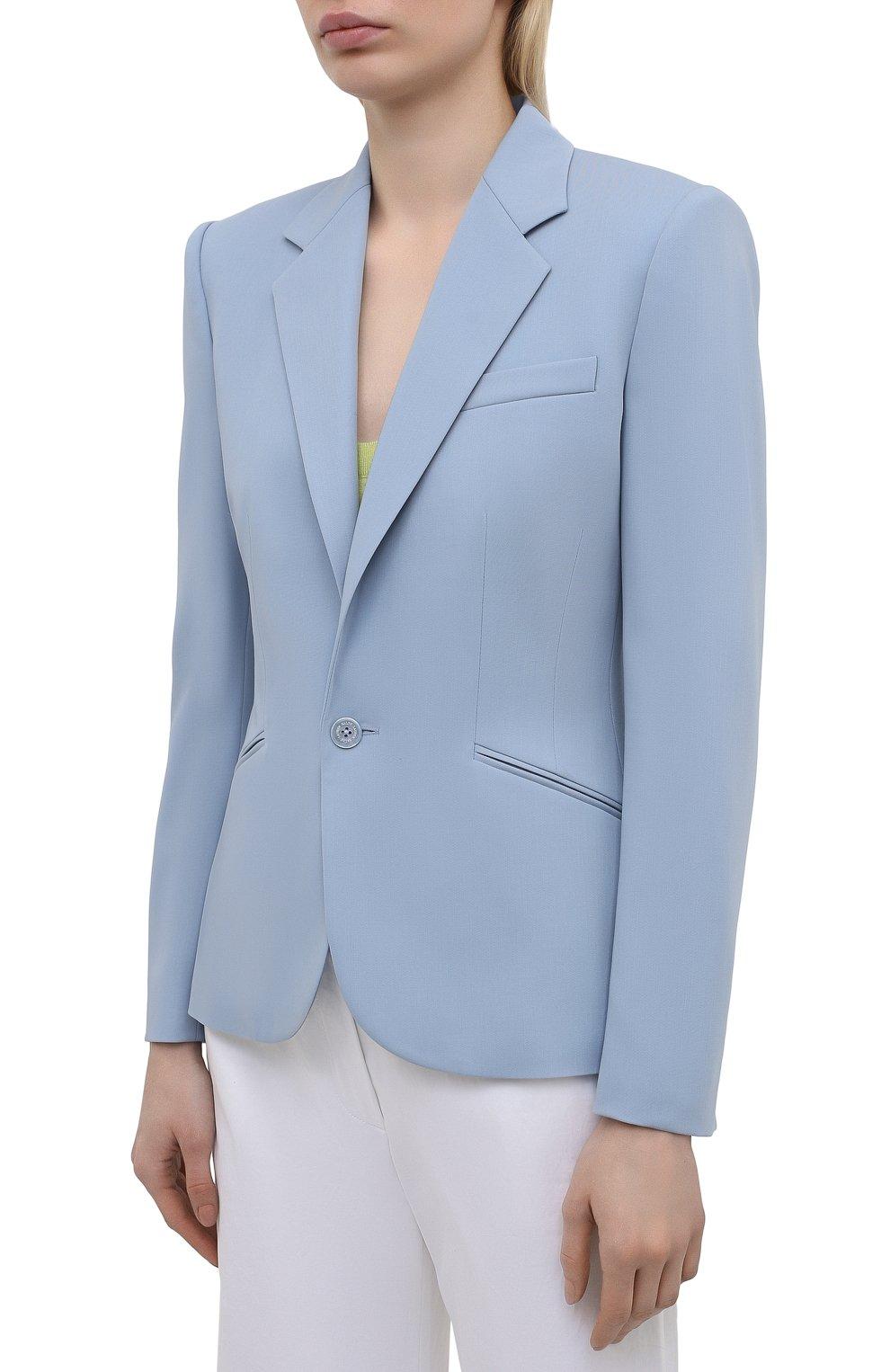 Женский шерстяной жакет RALPH LAUREN синего цвета, арт. 290842585 | Фото 3
