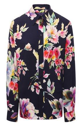 Женская рубашка из вискозы и шелка RALPH LAUREN разноцветного цвета, арт. 290840859 | Фото 1