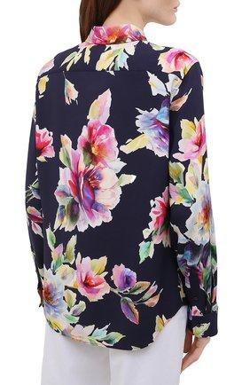 Женская рубашка из вискозы и шелка RALPH LAUREN разноцветного цвета, арт. 290840859 | Фото 4