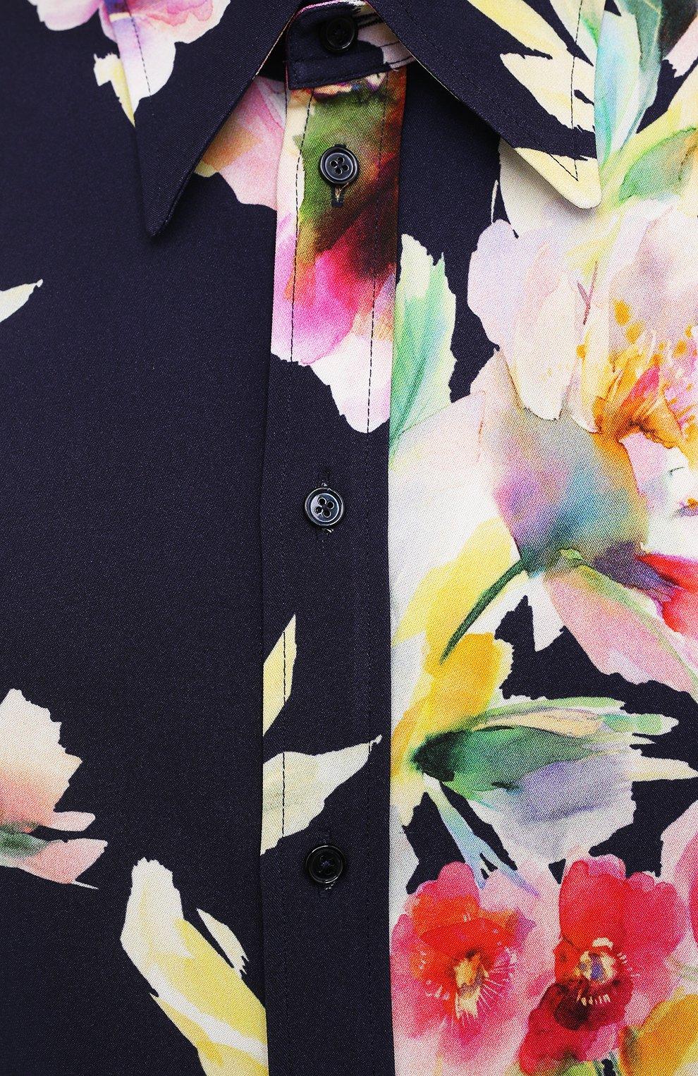 Женская рубашка из вискозы и шелка RALPH LAUREN разноцветного цвета, арт. 290840859 | Фото 5