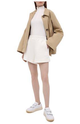 Женские хлопковые шорты FORTE DEI MARMI COUTURE кремвого цвета, арт. 21SF9883 | Фото 2