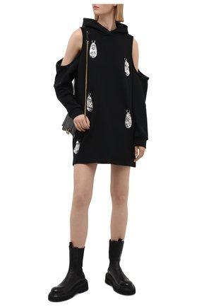 Женское хлопковое платье AREA черного цвета, арт. RE21D15050 | Фото 2