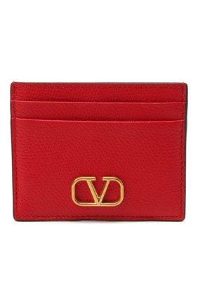 Женский кожаный футляр для кредитных карт  VALENTINO красного цвета, арт. VW0P0V32/SNP | Фото 1