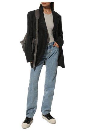 Женские кожаные кеды city TOM FORD черного цвета, арт. W2878T-LCL057 | Фото 2