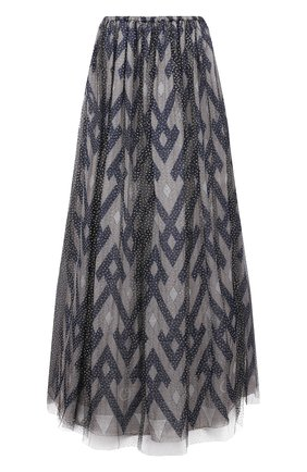 Женская юбка из шелка и вискозы GIORGIO ARMANI темно-синего цвета, арт. 1SHNN04Z/T02Q3   Фото 1