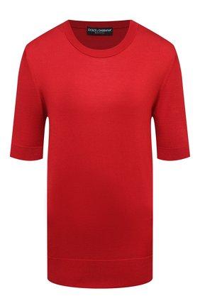 Женский шелковый пуловер DOLCE & GABBANA красного цвета, арт. FXC76T/JAS0P | Фото 1