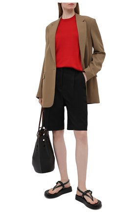 Женский шелковый пуловер DOLCE & GABBANA красного цвета, арт. FXC76T/JAS0P | Фото 2