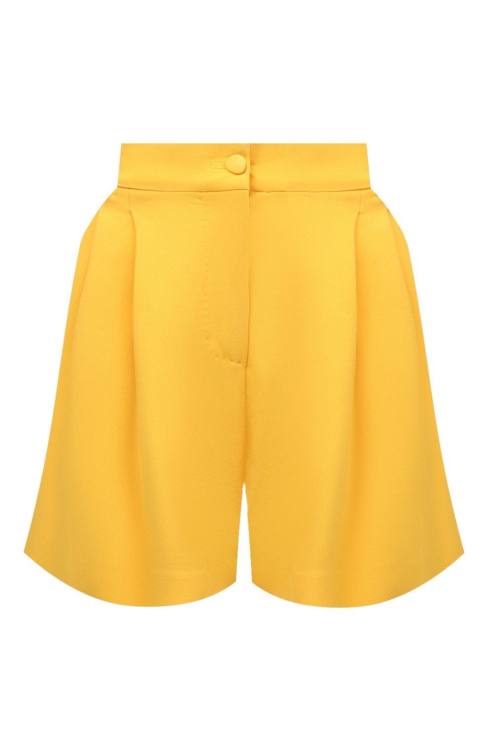 Женские шорты DOLCE & GABBANA желтого цвета, арт. FTB12T/FURDV | Фото 1 (Женское Кросс-КТ: Шорты-одежда; Стили: Гламурный; Длина Ж (юбки, платья, шорты): Мини; Материал внешний: Синтетический материал, Вискоза)
