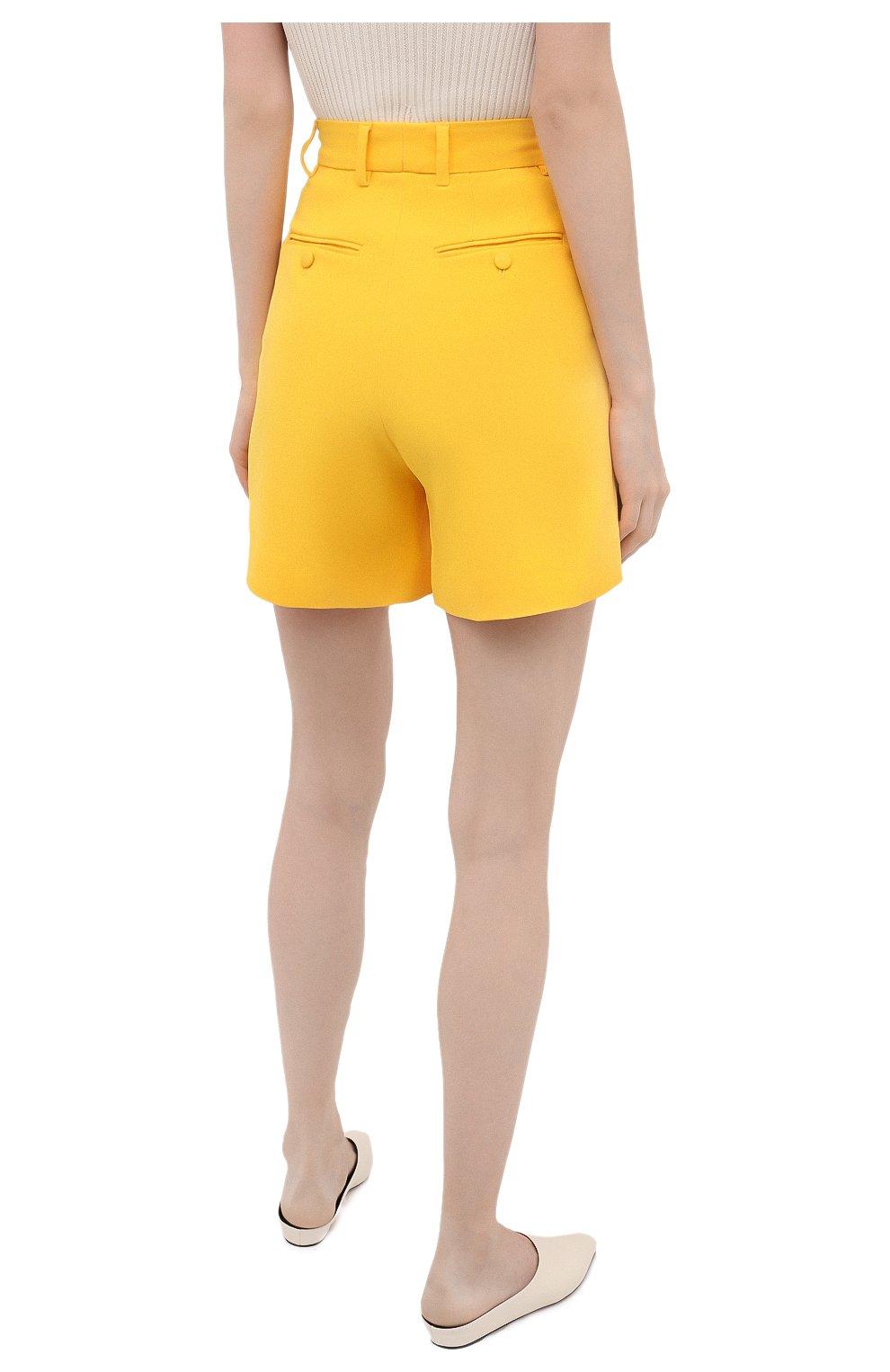 Женские шорты DOLCE & GABBANA желтого цвета, арт. FTB12T/FURDV | Фото 4 (Женское Кросс-КТ: Шорты-одежда; Стили: Гламурный; Длина Ж (юбки, платья, шорты): Мини; Материал внешний: Синтетический материал, Вискоза)