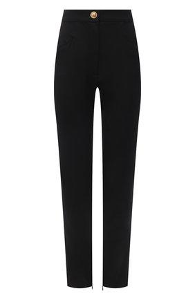 Женские шерстяные брюки BALMAIN черного цвета, арт. VF0PD010/W097 | Фото 1
