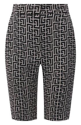 Женские шерстяные шорты BALMAIN черно-белого цвета, арт. VF0PB020/W126 | Фото 1