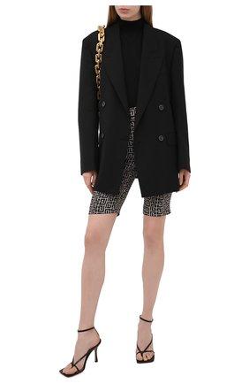 Женские шерстяные шорты BALMAIN черно-белого цвета, арт. VF0PB020/W126 | Фото 2