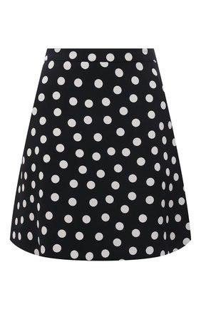 Женская юбка из вискозы SAINT LAURENT черно-белого цвета, арт. 647997/Y3C40 | Фото 1
