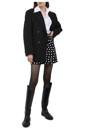 Женская юбка из вискозы SAINT LAURENT черно-белого цвета, арт. 647997/Y3C40 | Фото 2