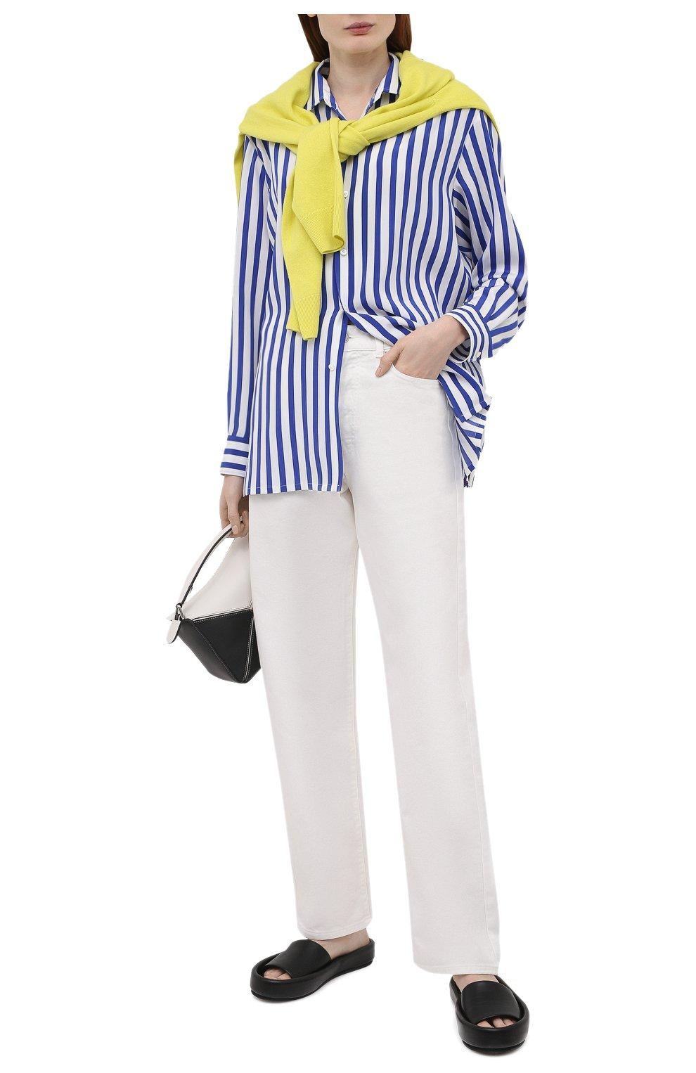 Женская шелковая рубашка RALPH LAUREN синего цвета, арт. 290840856   Фото 2