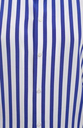 Женская шелковая рубашка RALPH LAUREN синего цвета, арт. 290840856 | Фото 5