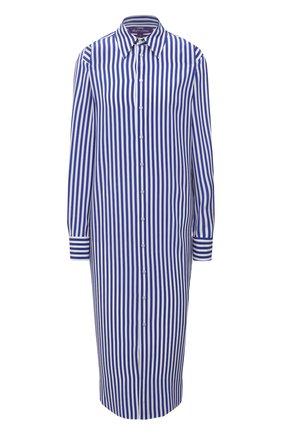Женское шелковое платье RALPH LAUREN синего цвета, арт. 290840868 | Фото 1