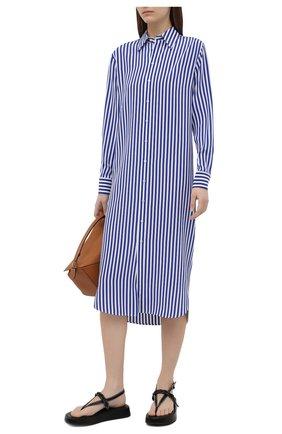 Женское шелковое платье RALPH LAUREN синего цвета, арт. 290840868 | Фото 2