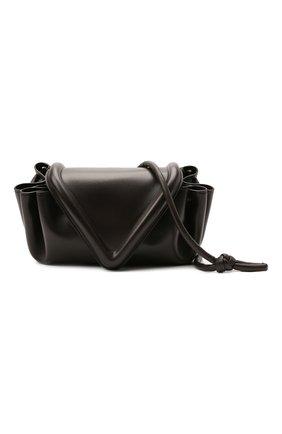 Женская сумка beak medium BOTTEGA VENETA темно-коричневого цвета, арт. 658523/VCP30   Фото 5 (Сумки-технические: Сумки через плечо; Размер: medium; Материал: Натуральная кожа)