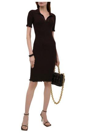 Женское шерстяное платье BOTTEGA VENETA коричневого цвета, арт. 656278/V0QZ0 | Фото 2