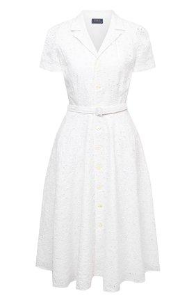 Женское льняное платье POLO RALPH LAUREN белого цвета, арт. 211838038 | Фото 1