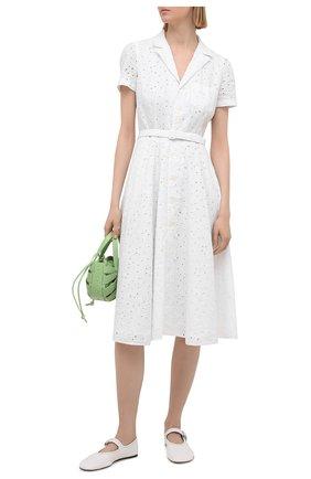 Женское льняное платье POLO RALPH LAUREN белого цвета, арт. 211838038 | Фото 2