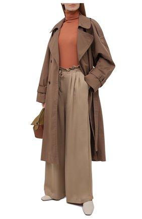 Женские брюки EMPORIO ARMANI бежевого цвета, арт. 3K2P88/2N7RZ   Фото 2