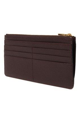 Женский кожаный футляр для кредитных карт DOLCE & GABBANA бордового цвета, арт. BI1265/A1001 | Фото 2 (Материал: Кожа)
