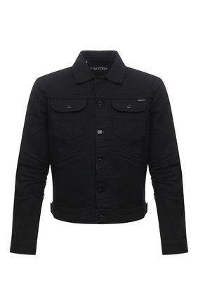 Мужская джинсовая куртка TOM FORD черного цвета, арт. BWJ50/TFD116 | Фото 1