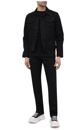 Мужская джинсовая куртка TOM FORD черного цвета, арт. BWJ50/TFD116 | Фото 2