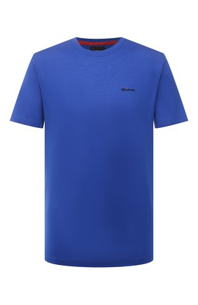 Мужская хлопковая футболка KITON синего цвета, арт. UK1274 | Фото 1