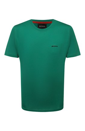 Мужская хлопковая футболка KITON зеленого цвета, арт. UK1274 | Фото 1