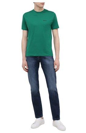 Мужская хлопковая футболка KITON зеленого цвета, арт. UK1274 | Фото 2