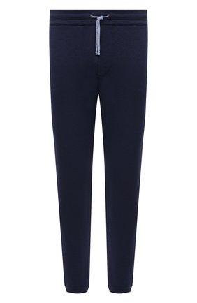 Мужские брюки из хлопка и кашемира LUCIANO BARBERA темно-синего цвета, арт. 109N47/52103/58-62 | Фото 1