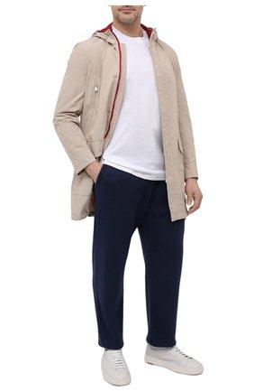 Мужские брюки из хлопка и кашемира LUCIANO BARBERA темно-синего цвета, арт. 109N47/52103/58-62 | Фото 2