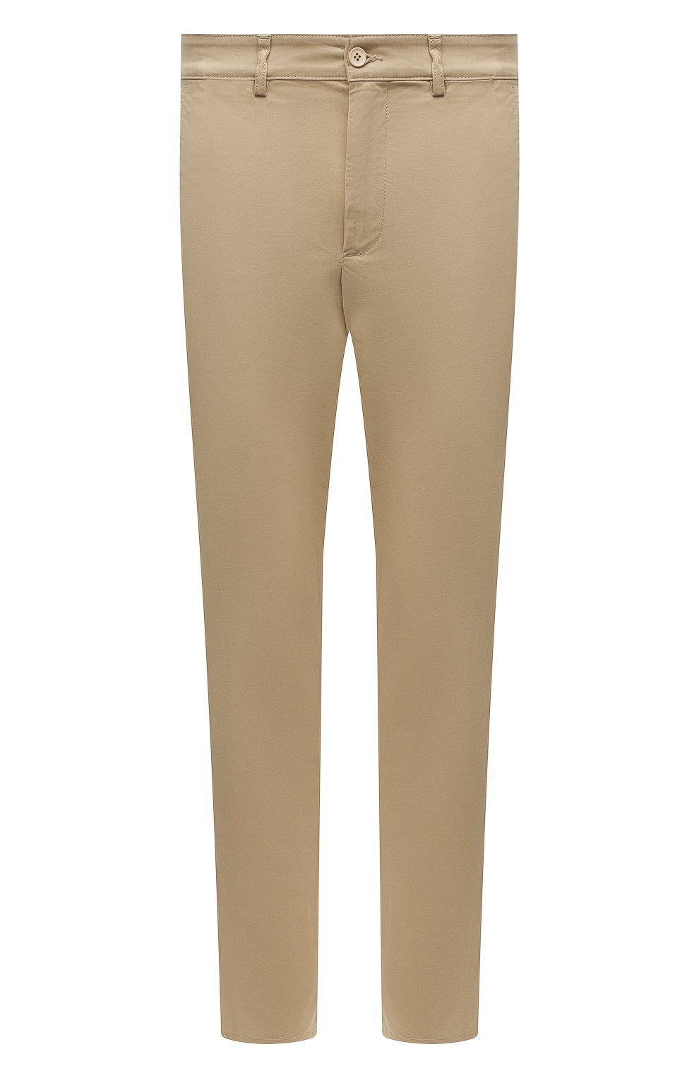 Мужские хлопковые брюки ASPESI бежевого цвета, арт. S1 A CP14 G398   Фото 1 (Силуэт М (брюки): Чиносы; Длина (брюки, джинсы): Стандартные; Случай: Повседневный; Материал внешний: Хлопок; Стили: Минимализм)