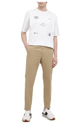 Мужские хлопковые брюки ASPESI бежевого цвета, арт. S1 A CP14 G398 | Фото 2