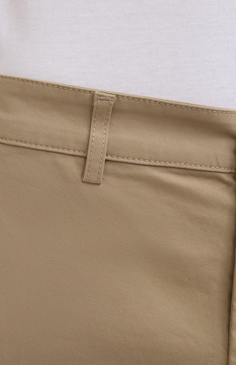 Мужские хлопковые брюки ASPESI бежевого цвета, арт. S1 A CP14 G398   Фото 5 (Силуэт М (брюки): Чиносы; Длина (брюки, джинсы): Стандартные; Случай: Повседневный; Материал внешний: Хлопок; Стили: Минимализм)