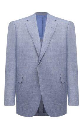 Мужской пиджак из шерсти и шелка CANALI голубого цвета, арт. 21280/CU00383/60-64   Фото 1