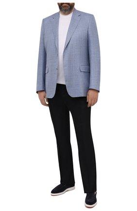 Мужской пиджак из шерсти и шелка CANALI голубого цвета, арт. 21280/CU00383/60-64   Фото 2