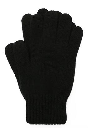 Мужские кашемировые перчатки JOHNSTONS OF ELGIN черного цвета, арт. HAY01001 | Фото 1 (Материал: Кашемир, Шерсть; Кросс-КТ: Трикотаж)