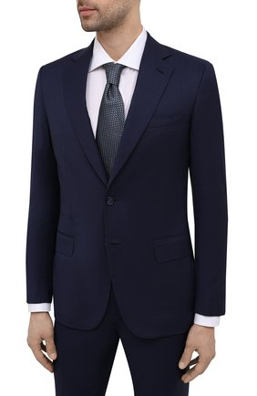 Мужской шерстяной костюм BRIONI синего цвета, арт. RA0B00/P0A31/PRE C0UTURE | Фото 2