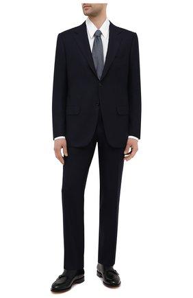Мужской костюм из шерсти викуньи KITON темно-синего цвета, арт. UA81K06I61/VVIC | Фото 1