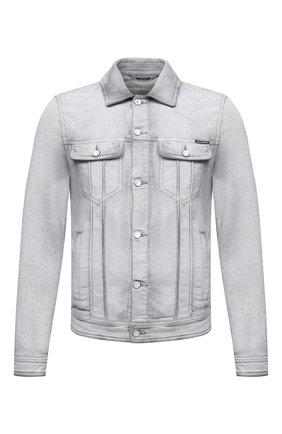 Мужская джинсовая куртка DOLCE & GABBANA светло-серого цвета, арт. G9JC2D/G8DP7 | Фото 1