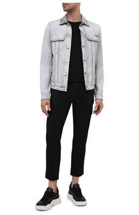 Мужская джинсовая куртка DOLCE & GABBANA светло-серого цвета, арт. G9JC2D/G8DP7 | Фото 2